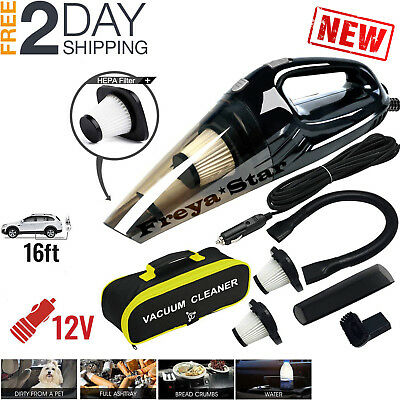 Car Vacuum Cleaner 12V For Auto Mini Hand held Wet Dry Small Portable 12 Volt