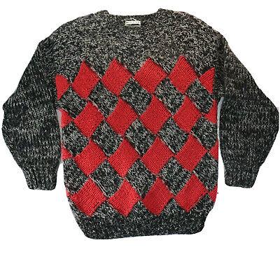 80s Sweatshirts, Sweaters, Vests | Women Katies Vintage Hand Knitted Jumper Melange Fluffy Long Boxy Ugly 80s Size 10 $25.99 AT vintagedancer.com