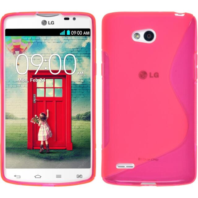 Silicone Case LG L80 Dual - S-Style hot pink + protective foils