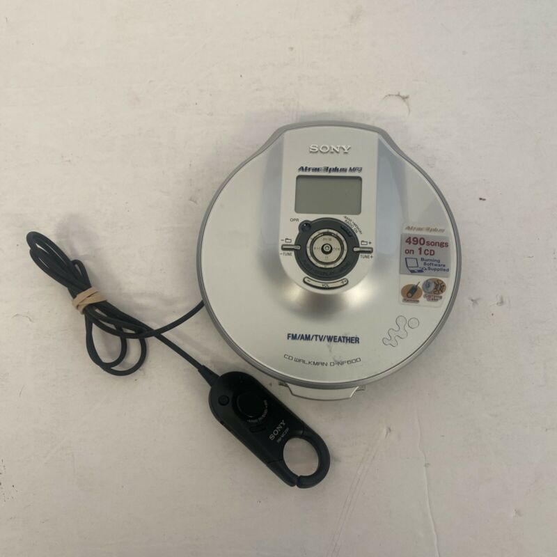Sony D-NF600 Atrac3plus MP3 FM/AM/TV/Weather Portable CD Player Walkman Works