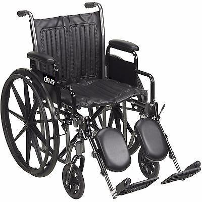 "20"" Wheelchair, Silver Sport 2 Elevavating Legrests, Drive Medical SSP220DDA-ELR"