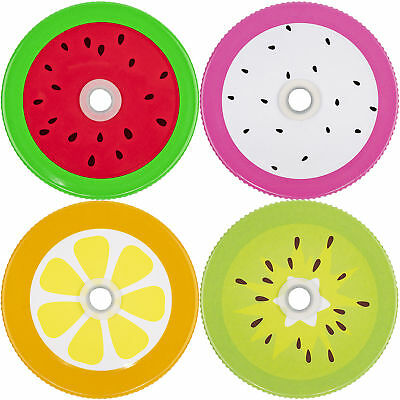 Mason Jar Lids With Holes (Mason Jar Lids Fruits With Hole Grommet for Straw Drinks Lemonade Picnic)