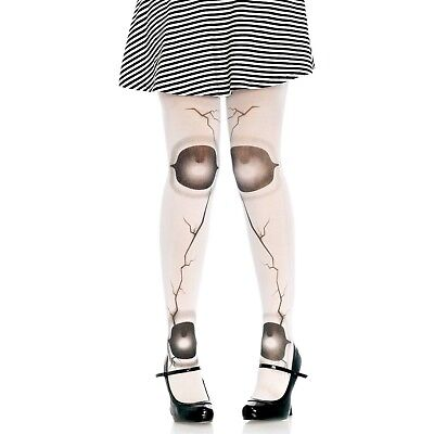 White & Black Halloween Cracked Jointed Doll Tights Women Cosplay Anime - Doll Halloween Tights