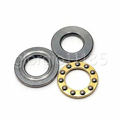Us Stock 10pcs F2-6m Axial Ball Thrust Bearing 3-parts 2mm X 6mm X 3mm