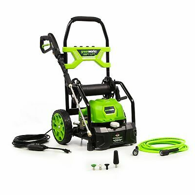Greenworks 5103702 1950 Psi Open Frame Electric Pressure Washer W 20 Hose Reel