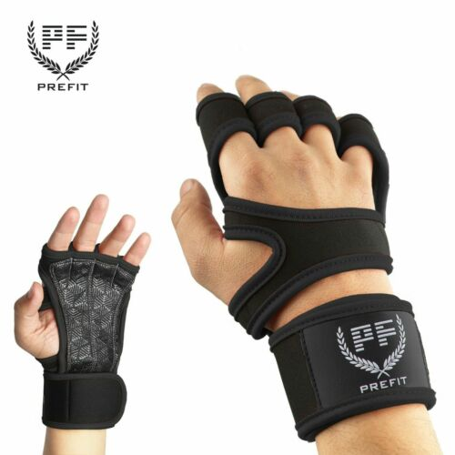 PREFIT Fitness Gloves Weight Lifting Gym Workout Training Wrist Wrap Strap