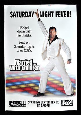 MARRIED WITH CHILDREN * CineMasterpieces AL BUNDY DISCO PROMO POSTER 1989