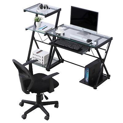 PC Computer Desk Laptop Table Corner Student Workstation Office Home Furniture