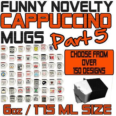 funny novelty 6oz cappuccino mug cup coffee