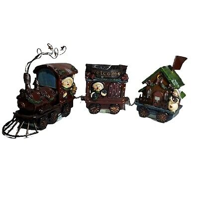 Lincolnshire Holiday Collection 3 Piece Train Set Christmas Decorations Snowman