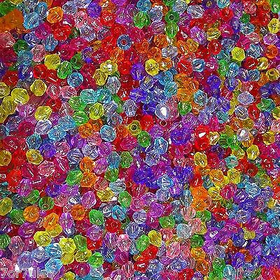 1000 Abalorios Tupis 4mm T605C Acrílicos Bicone Beads Acrylic Pulseras Collar segunda mano  Madrid