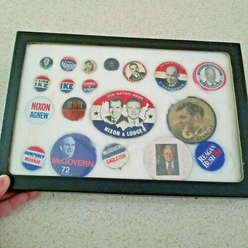 50 Vintage Presidential Buttons Pins Hoover Johnson