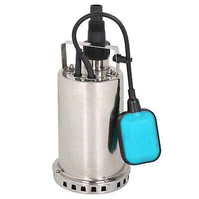 1hp Stainless Steel Submersible Sump Pump Dirty Clean Water Pump W26ft Cable