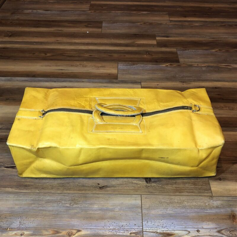 VintAge Yellow Leather Scovill Doctors Bag.