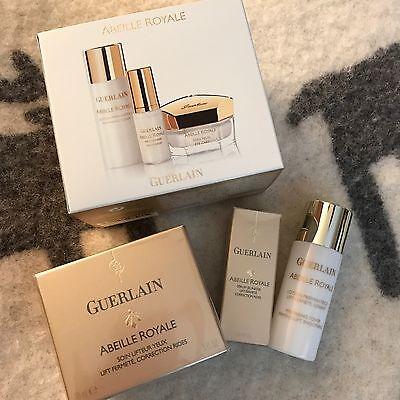 3 pcs set Guerlain gift set ABEILLE ROYALE EYE CREAM 0.5 OZ full size plus extra
