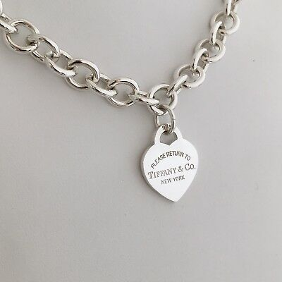 7ef7ce3f45b Please Return to Tiffany   Co Sterling Silver New York 925 Heart Tag  Necklace