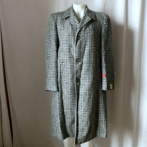 Vintage 1950s Blue Wool Tweed Coat NOS