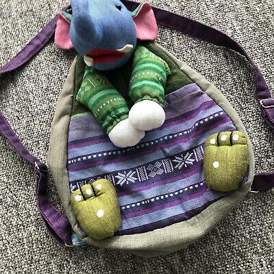 Baby Kid Toddler Backpack  Bag Elephant front pocket back  zip pocket  for sale  Shipping to South Africa