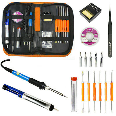 20 In 1 Electric Soldering Iron Gun Tool Kit 110v 60w Welding Desoldering Pump