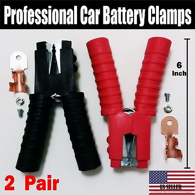 4 PCS - 1000Amp Jumper Starter Booster Cable Car Battery Charger Clamp