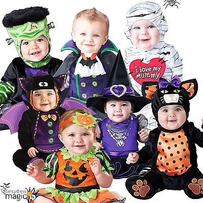 Baby Babies Toddler Halloween Witch Vampire Babygrow Fancy Dress Outfit Costume