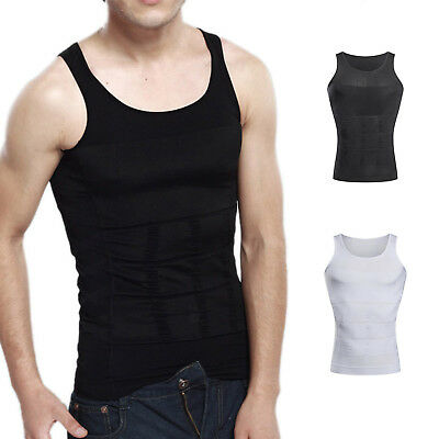 Men Body Slimming Tummy Shaper Belly Underwear shapewear Waist Girdle shirt Vest](Mens Body Suit)