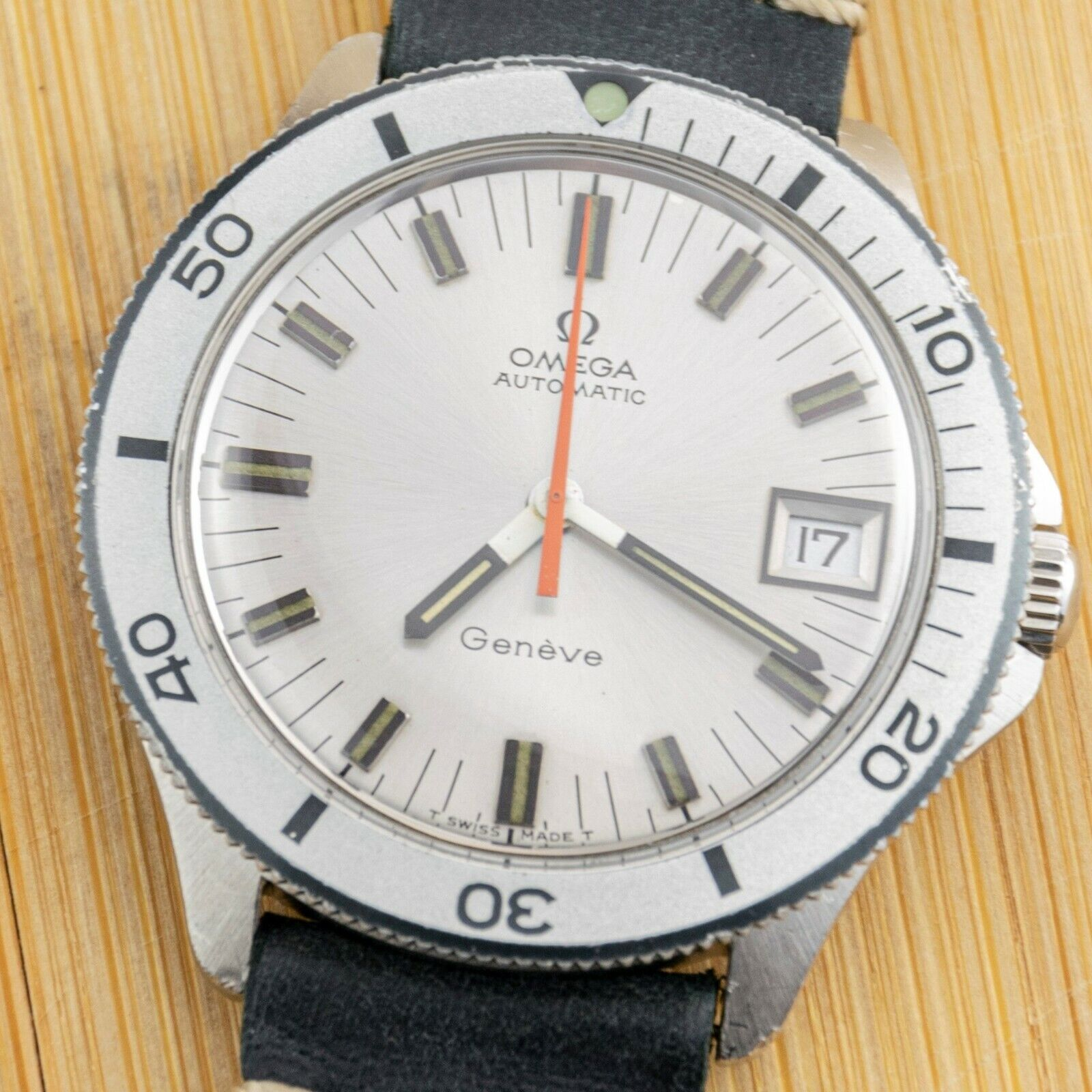 OMEGA GENEVE ADMIRALTY – VINTAGE AUTOMATIC DIVER – STEEL – MEN'S - watch picture 1