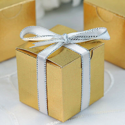 100 pcs Gold FAVOR BOXES 2