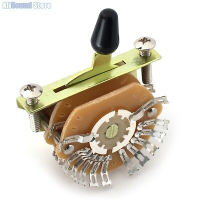 NEW - 4-Pole, Double Wafer, 5-Way Super Mega Switch for Stratocaster Tele Guitar 5 Way Super Switch