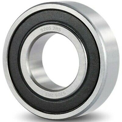 5205 2rs Abec Double Row Angular Contact Ball Bearing Rubber Seal Rs 25x52x21 Mm