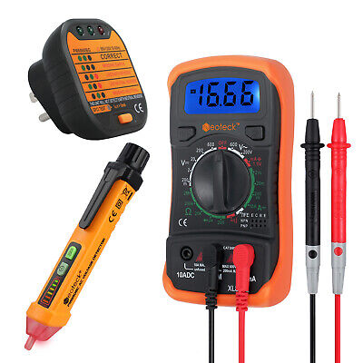 Digital Multimeter Non-contact Voltage Tester Pen And Socket Tester Kit