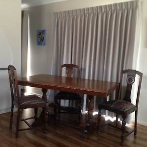 English Oak Dining Table and 4 chairs - Art Deco style Ocean Grove Outer Geelong Preview