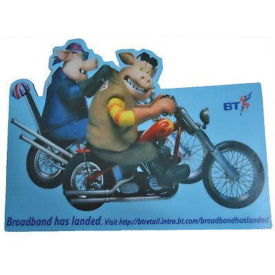 BT Broadband Internet Mousemat 2002 Aardman Pigs Wallace & Gromit Shaun Sheep