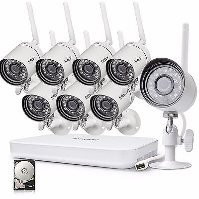 Funlux 8CH 1080p HDMI NVR 1.0MP HD Network WiFi Home Security Camera System 1TB