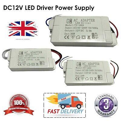 Led Driver Power Supply Transformer 240v- Dc 12v Light Weight Driver Uk Lighting
