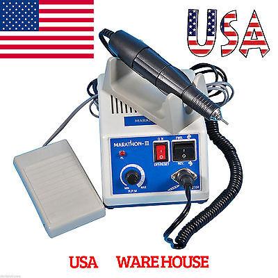 Dental 35k Rpm Electric Marathon Micromotor Contra Straight Handpiece Burs Usa
