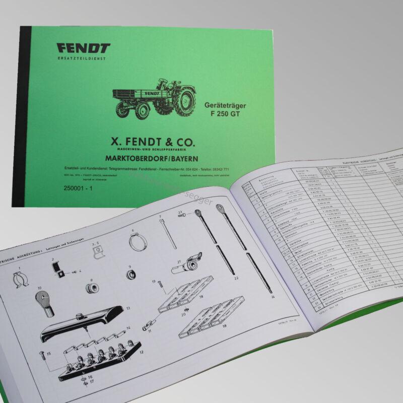 Fendt Ersatzteilliste Geräteträger F250 GT Traktor Schlepper 250001 - 1 Foto 1