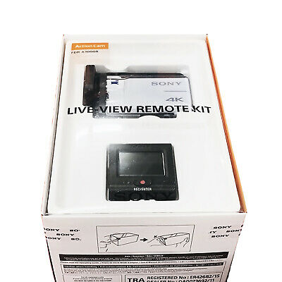 SONY FDR-X3000R 4K Action Cam Camera Live-View Remote Kit UHD Camcorder