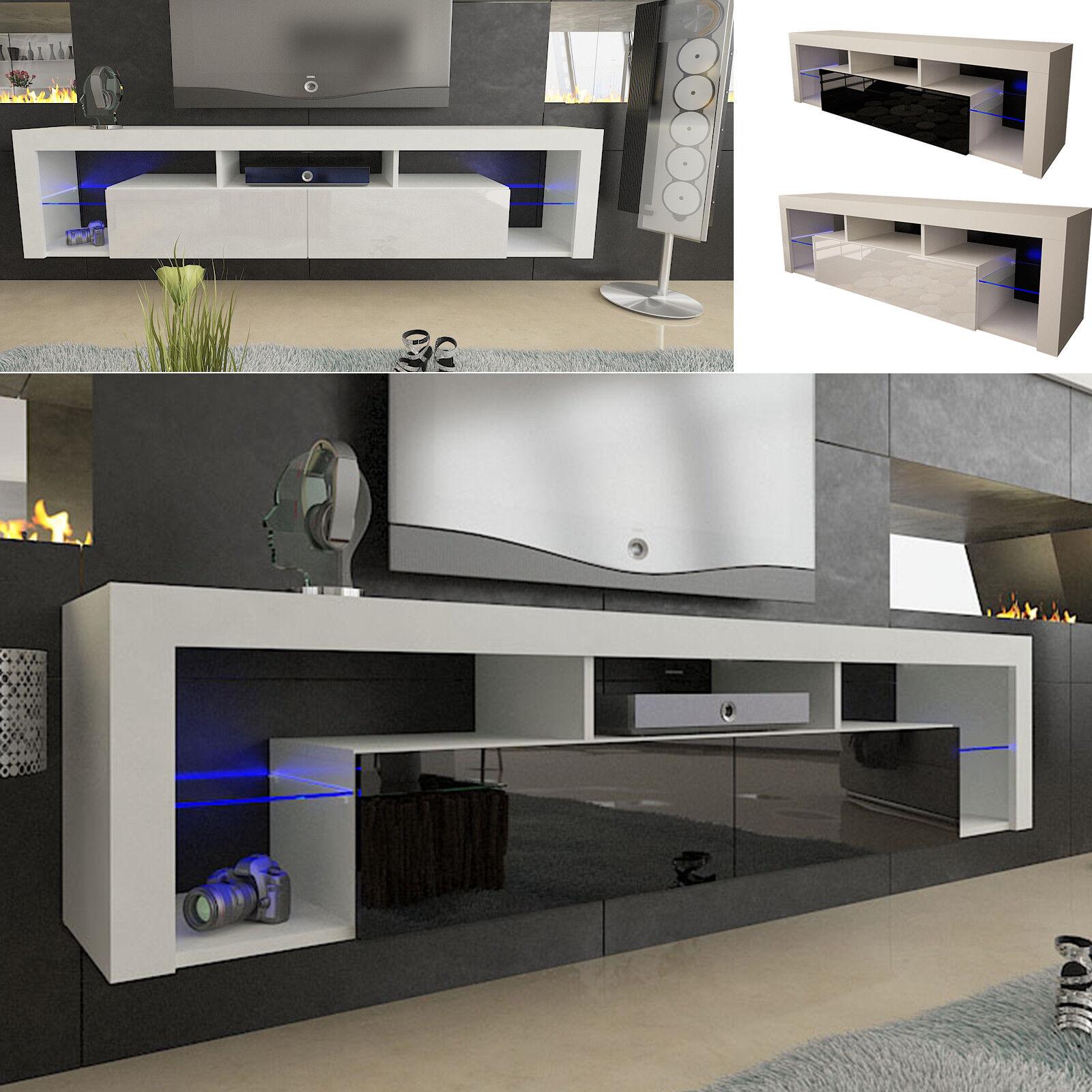 купить Tv Lowboard Schrank Tisch Board 130 160 200cm Hochglanz Mit