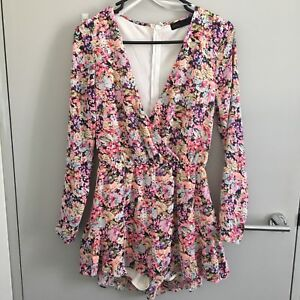 Ally Floral Long Sleeve Jumpsuit Size 8 Dresses Skirts Gumtree