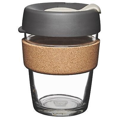 KeepCup Brew Reusuable Glass Coffee Cup Mug with Cork Band - 340ml 12oz - Press