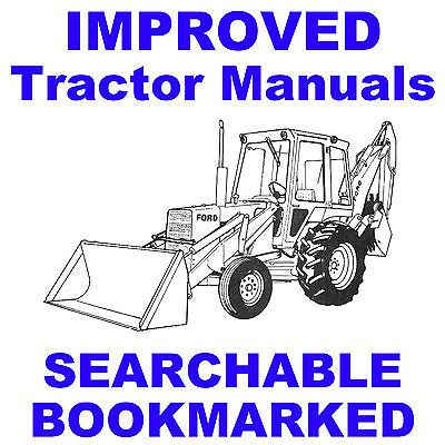 Ford 550 555 Backhoe Loader Tractor Tlb Repair Workshop Service Manual On A Cd