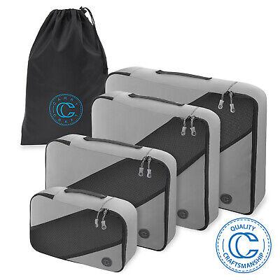 4 Piece Packing Cubes Travel Luggage Organizer Set w/ Laundr