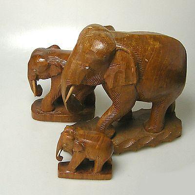 Ältere Holzschnitzerei große Elefanten Elefant guter Zustand