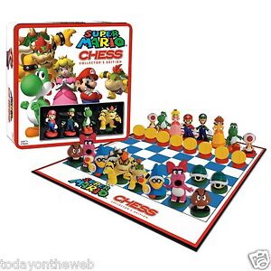 Super Mario Brothers Chess Game Set Collectors Edition