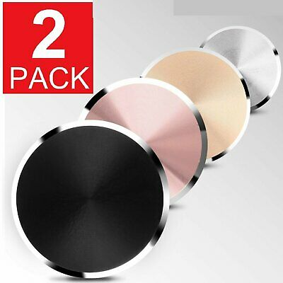 2-Pack Metal Plate Adhesive Sticker Replace For Magnetic Car Mount Phone Holder Cell Phone Accessories