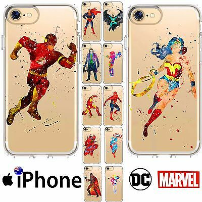 iPhone Silicone Case Cover TPU Superheros Marvel DC Comics Abstract FreshPrintAU
