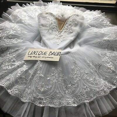 Adult Professional Ballet Tutu Skirt White Swan Lake Ballet Costume PancakeDress