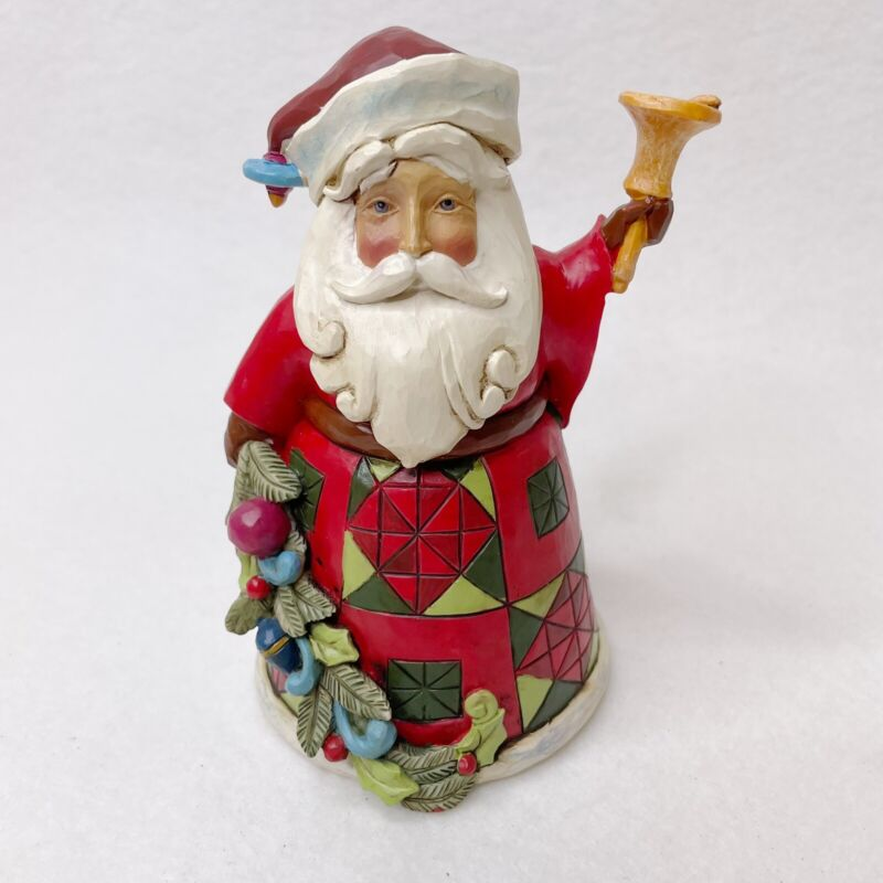 "Jim Shore Heartwood Creek Glad Tidings Mini 5.25"" Santa Figurine 4034370 (2013)"