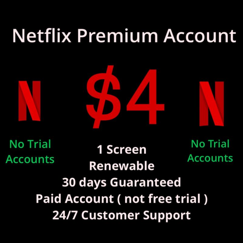 NETFL!X Premium | Renewable | 1 Month | Instant Email Delivery | 24/7
